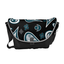 Free Paisley Black Messenger Bag