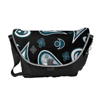 Free Paisley Black Messenger Bags