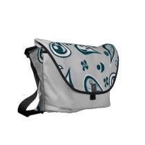 Free Paisley Silver Messenger Bag