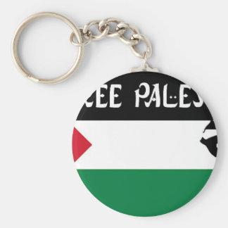 Free Palestine - فلسطين علم  - Palestinian Flag Basic Round Button Keychain