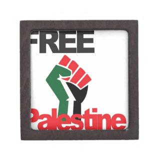 Free Palestine - فلسطين علم  - Palestinian Flag Jewelry Box