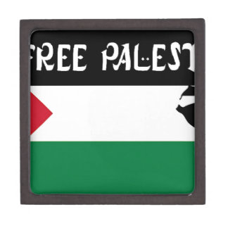 Free Palestine - فلسطين علم  - Palestinian Flag Keepsake Box
