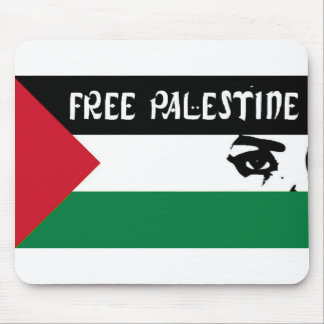 Free Palestine - فلسطين علم  - Palestinian Flag Mouse Pad