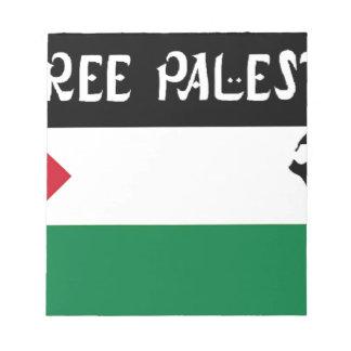 Free Palestine - فلسطين علم  - Palestinian Flag Note Pad