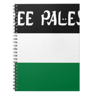 Free Palestine - فلسطين علم  - Palestinian Flag Notebook