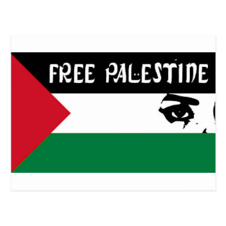 Free Palestine - فلسطين علم  - Palestinian Flag Postcard