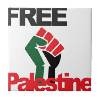 Free Palestine - فلسطين علم  - Palestinian Flag Tile