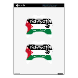 Free Palestine - فلسطين علم  - Palestinian Flag Xbox 360 Controller Decal