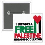 Free Palestine 2 Inch Square Button