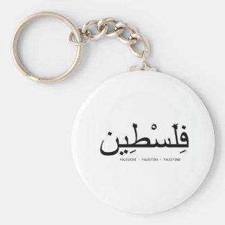 Free Palestine Basic Round Button Keychain
