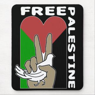 Free Palestine black background Mouse Pad