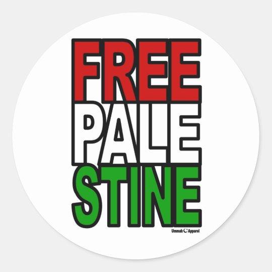 Free Palestine Block Classic Round Sticker