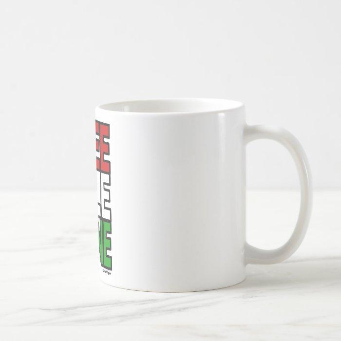 Free Palestine Block Coffee Mug