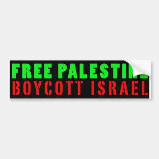 FREE PALESTINE BOYCOTT ISRAEL - Bumper Sticker Car Bumper Sticker