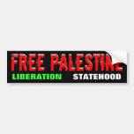 FREE PALESTINE bumpersticker Bumper Sticker