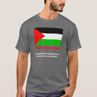 Free Palestine Charcoal Grey T-Shirt