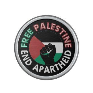 Free Palestine End Apartheid Flag Fist Black Bluetooth Speaker