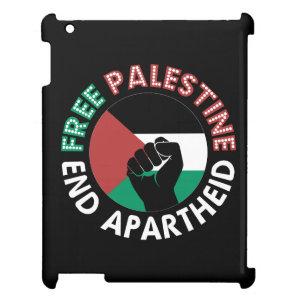 Free Palestine End Apartheid Flag Fist Black Case For The iPad 2 3 4