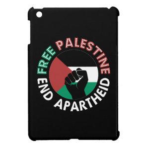 Free Palestine End Apartheid Flag Fist Black iPad Mini Cover