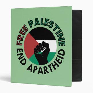 Free Palestine End Apartheid Palestine Flag Binder