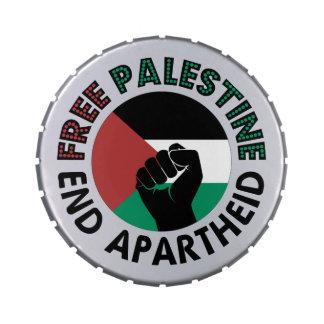 Free Palestine End Apartheid Palestine Flag Candy Tins