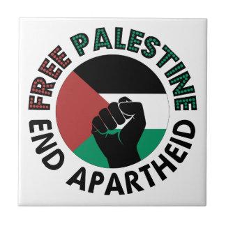 Free Palestine End Apartheid Palestine Flag Ceramic Tile