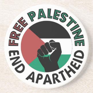 Free Palestine End Apartheid Palestine Flag Coaster