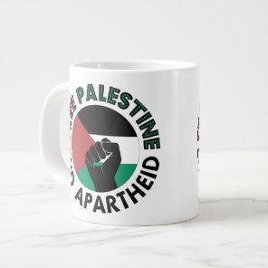 Free Palestine End Apartheid Palestine Flag Giant Coffee Mug