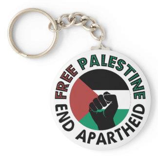 Free Palestine End Apartheid Palestine Flag Keychain
