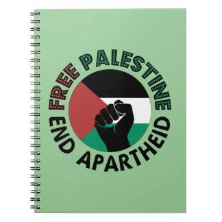 Free Palestine End Apartheid Palestine Flag Notebook