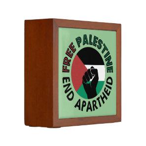 Free Palestine End Apartheid Palestine Flag Pencil/Pen Holder