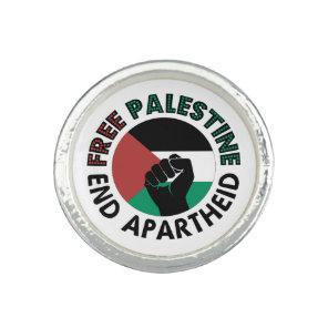 Free Palestine End Apartheid Palestine Flag Rings