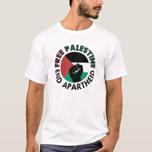 Free Palestine End Apartheid Palestine Flag T-Shirt