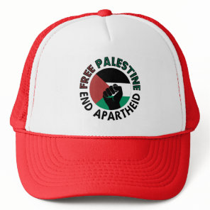 Free Palestine End Apartheid Palestine Flag Trucker Hat