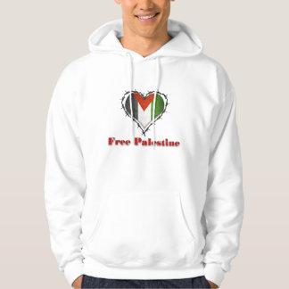 Free Palestine Flag Barbed Wire Mens Hoodie