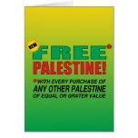 Free Palestine - Free us from palestine please Greeting Card
