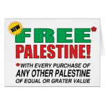 Free Palestine - Free us from palestine please Cards