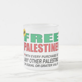 Free Palestine - Free us from palestine please Frosted Glass Coffee Mug