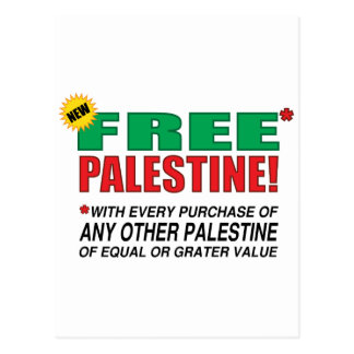 Free Palestine - Free us from palestine please Post Card