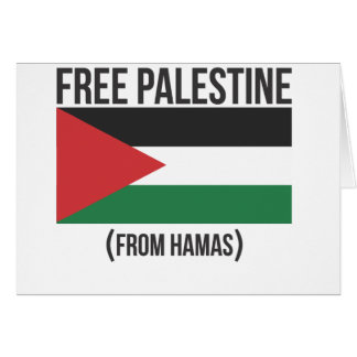 Free Palestine from Hamas Greeting Card