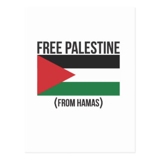 Free Palestine from Hamas Postcard