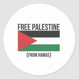 Free Palestine from Hamas Round Stickers