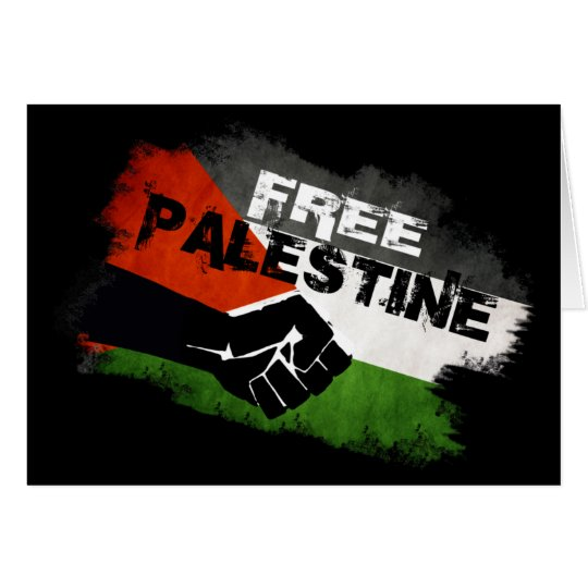 Free Palestine - From River to Sea Card