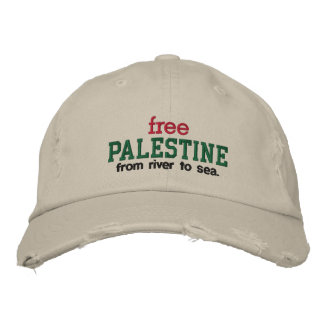 Free Palestine - from river to sea. Embroidered Hats