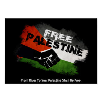 Free Palestine - From River to Sea Poster