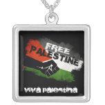 Free Palestine Grunge Flag Custom Jewelry