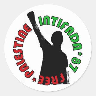 Free Palestine Intifada Classic Round Sticker