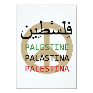 "Free Palestine 5"" X 7"" Invitation Card"