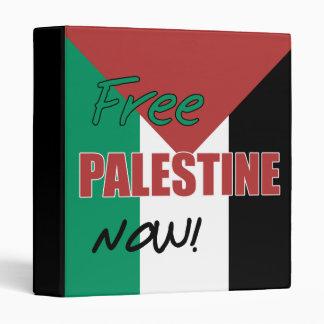 Free Palestine Now Palestinian Flag 3 Ring Binder