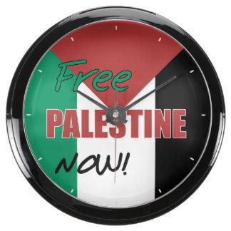 Free Palestine Now Palestinian Flag Aquarium Clock